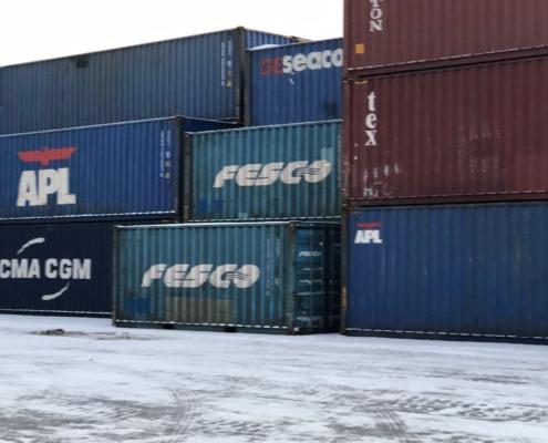 Цвет морского контейнера на фото